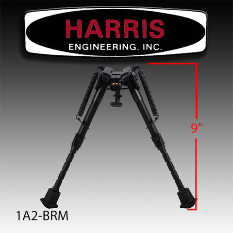 "Harris Bipod 6""-9"" with Leg Notches Model 1A2-BRM"