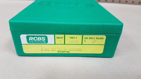 *AUCTION* USED RCBS 30 MI CARBINE 3 DIE SET