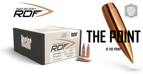 Nosler RDF Bullet -  Reduced Drag Factor
