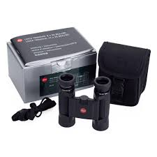 binoculars with black box and silver box includes string