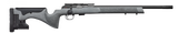 grey specled rifle with CZ printed on the black barrel