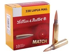 338 Lapua 250 Grain Match Loaded Ammunition 10 pk
