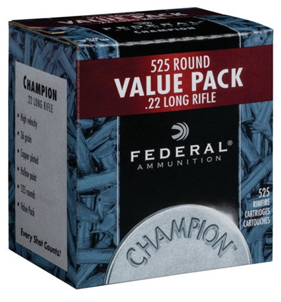 FEDERAL CHAMPION TRAINING RIMFIRE 22 LR AMMUNITION 525PK