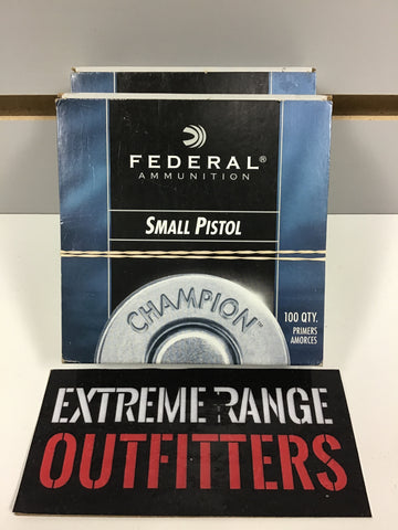 0304022 PRIMERS FEDERAL SMALL PISTOL PRIMERS 200 COUNT