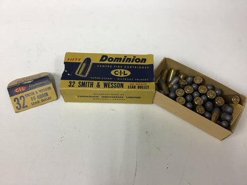 0904018 AMMO DOMINION 32 S&W 85 Gr x 38 ROUNDS