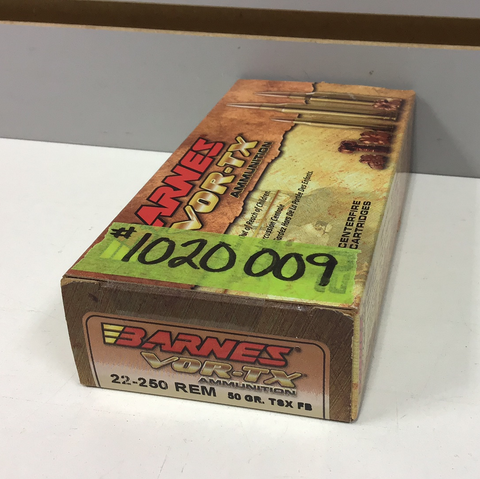 1020009 AMMO 22-250 50 Gr TSX x 20 ROUNDS