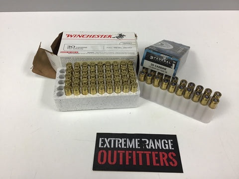 0306004 AMMO ASSORTED 30 CARBINE 65 ROUNDS