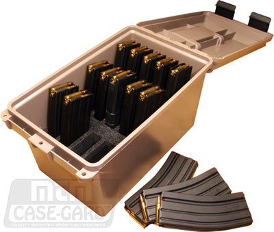brown magazine case open