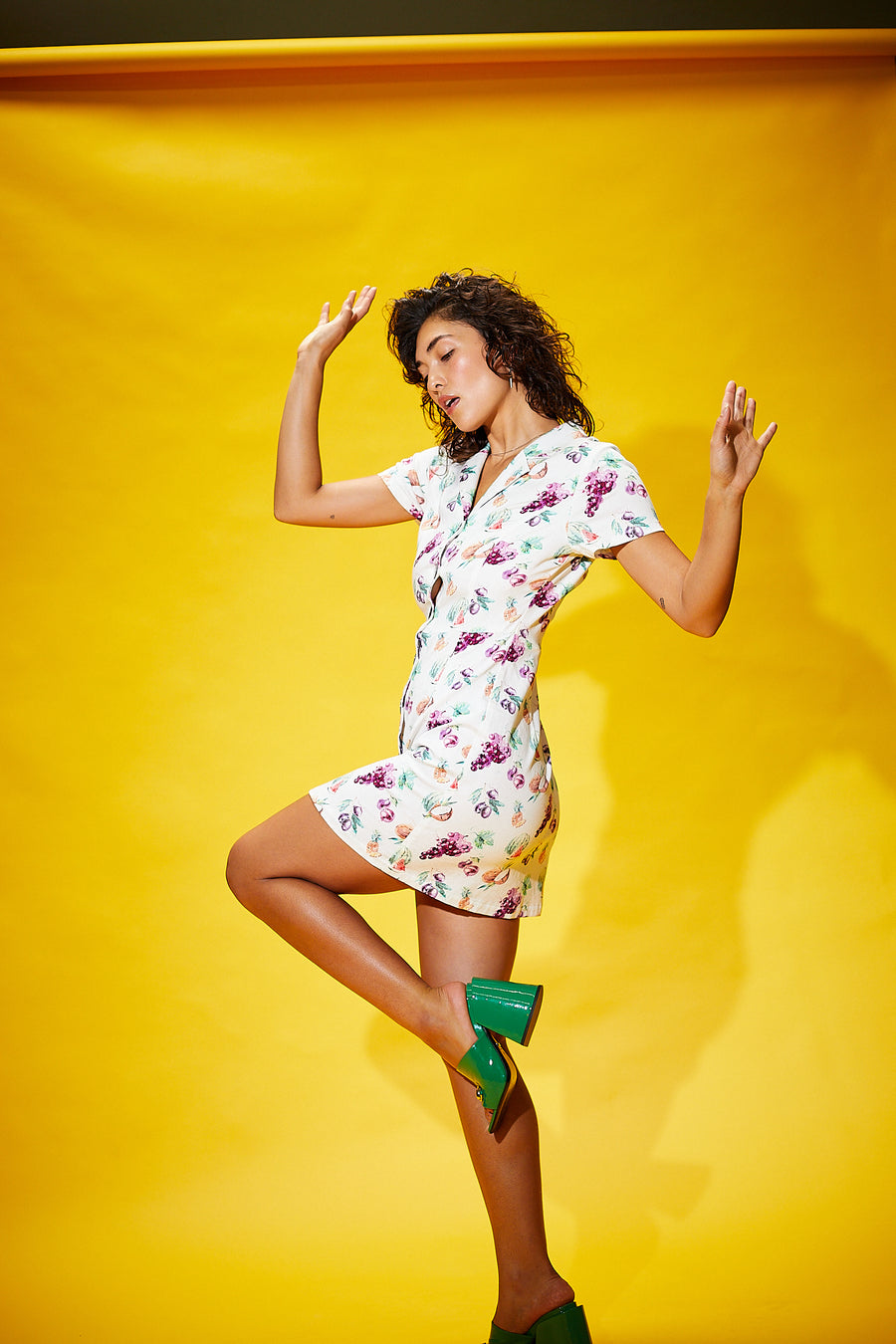 Fruit Shirt Dress