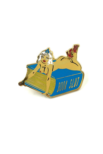 Book Slut Lapel Pin