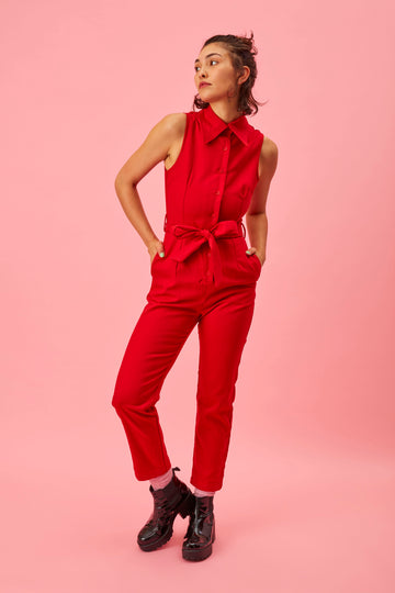 The Director Jumpsuit Red