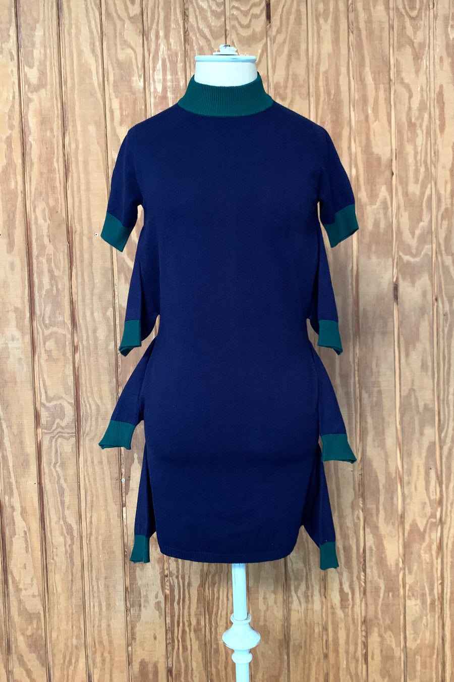 Octopus Mini Dress Navy/Hunter