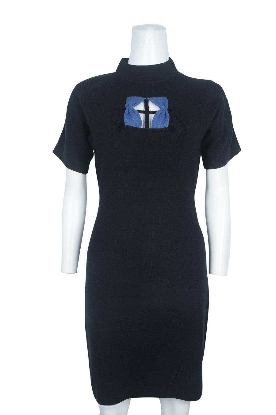 2 left- XS + 3XL Black Window Dress