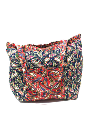 Reversible Quilted Paisley Tote
