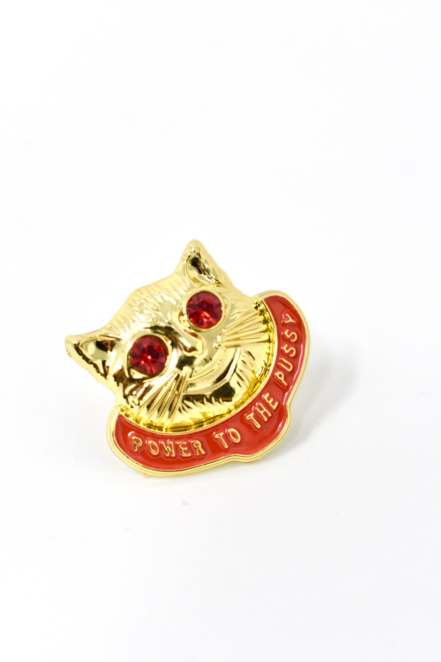 Power to the Pussy lapel pin
