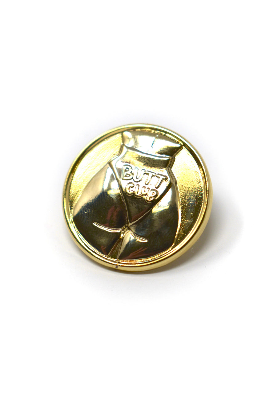 Butt Club 14K gold plated Pin