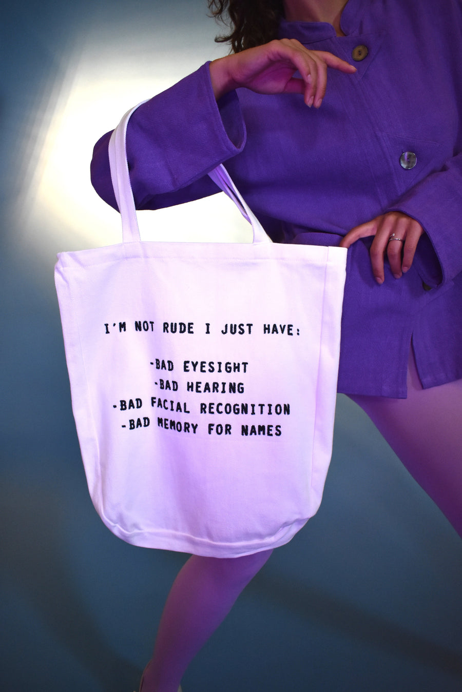 3 left- I'M NOT RUDE Large Tote
