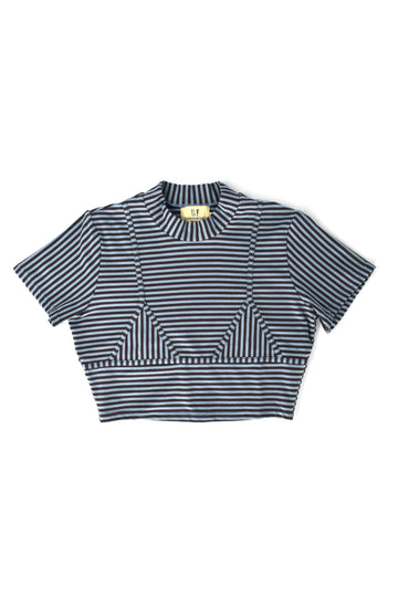 Striped Bikini Seams Tee