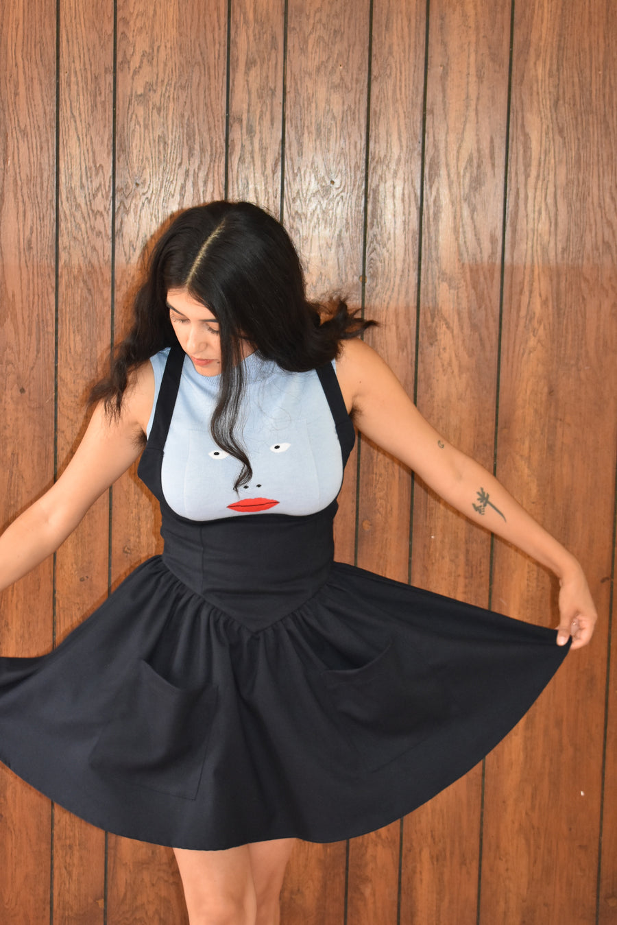 2 left- Navy Pinafore