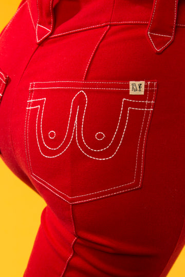 PRE-ORDER Cowgirl Pants Red