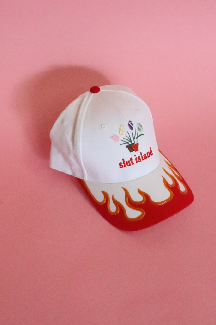 Slut Island Flowers N' Flames Hat