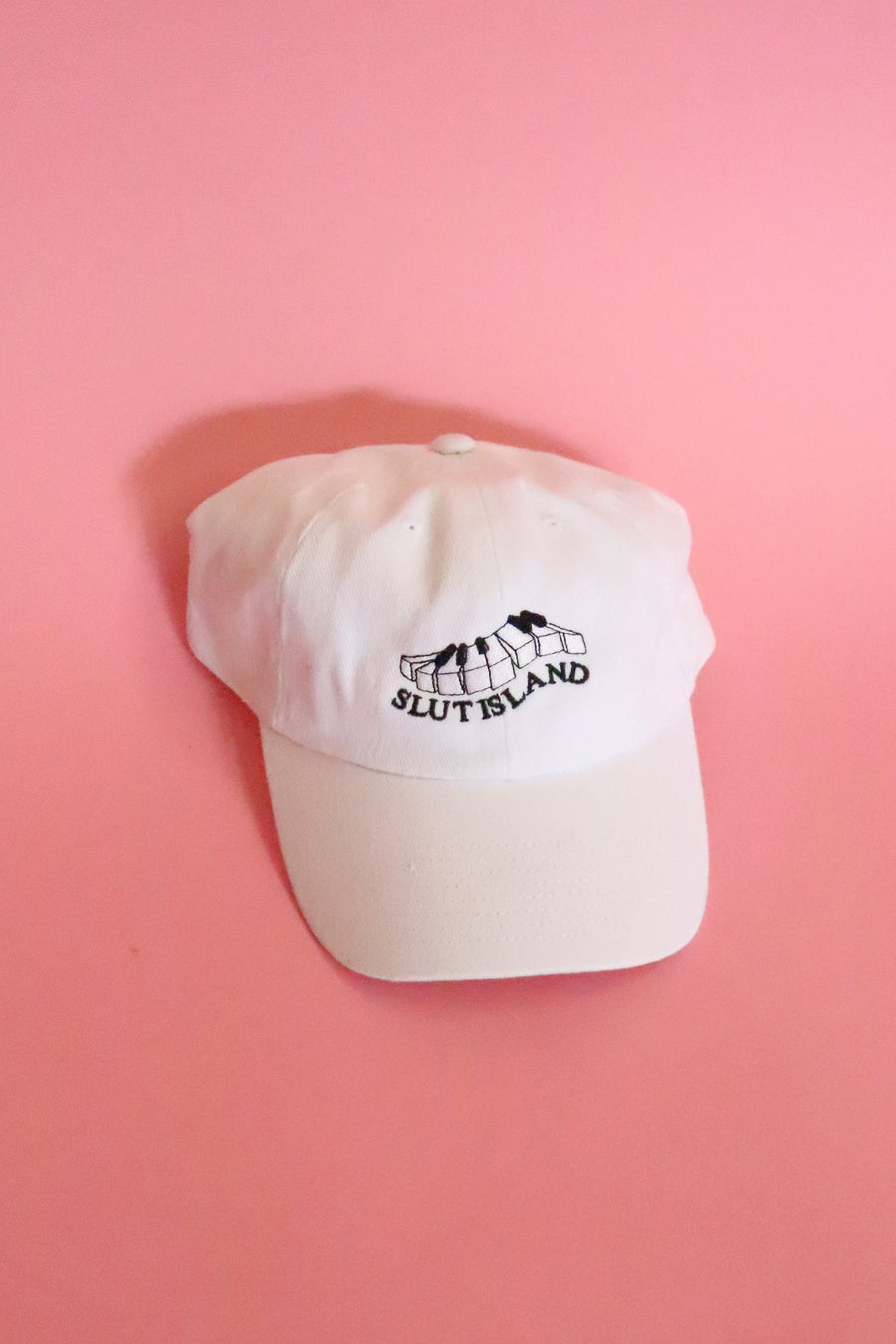 Slut Island Hat White