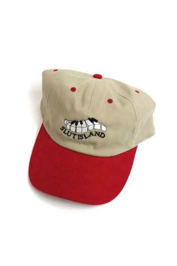 Slut Island Hat khaki/red