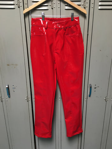 Sample Red PVC Pants S