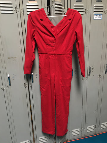 Sample Red Suit Jumpsuit S