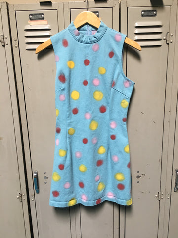Sample Blue Polka Dot Mini Dress XS/S