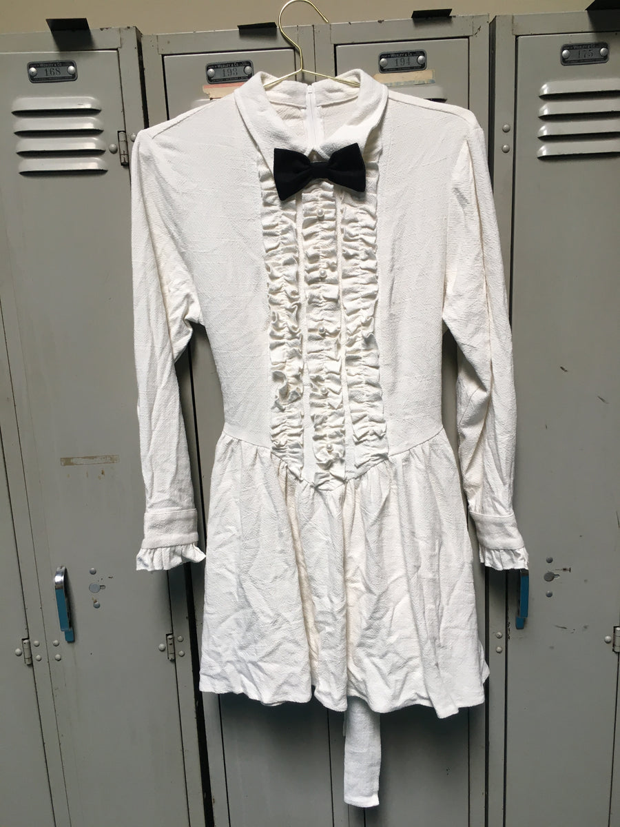 Sample Prom Tuxedo Linen White Dress S