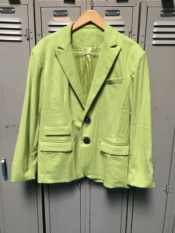 Sample Lime Blazer & Matching Pant Set S