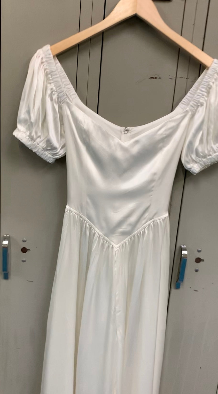 4 left - White Mulberry Silk Wedding Jumpsuit