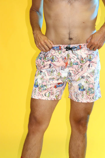 Flesh Cave Swim Trunks