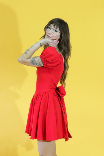 2 LEFT- The Virgin Gown Red MINI