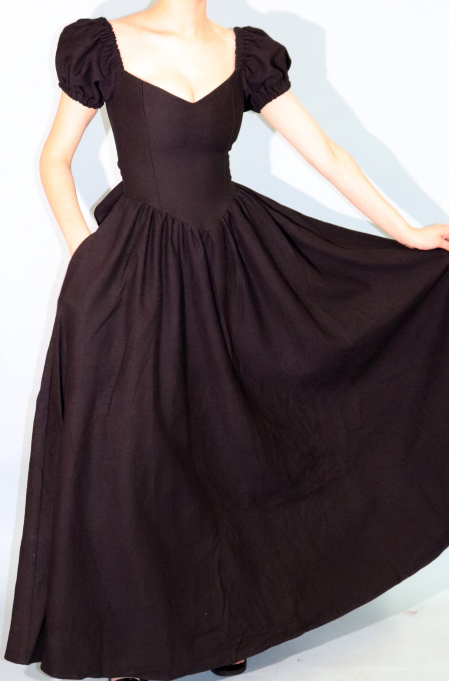 The Virgin GOWN Black