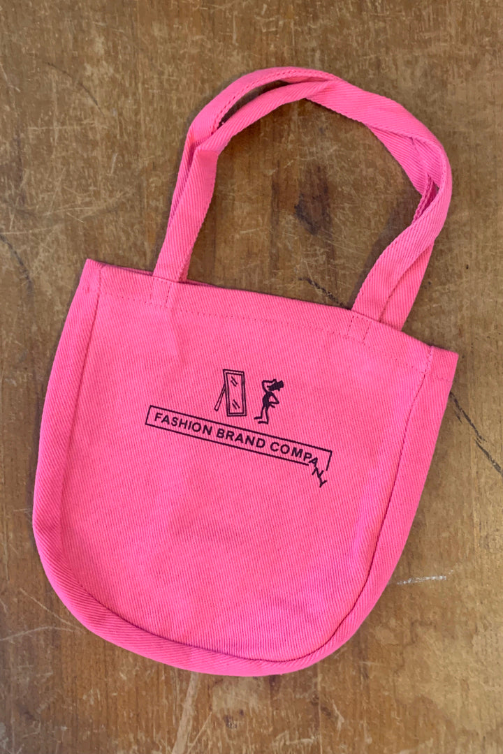 3 left- FBC Canvas Lizard Tote Pink