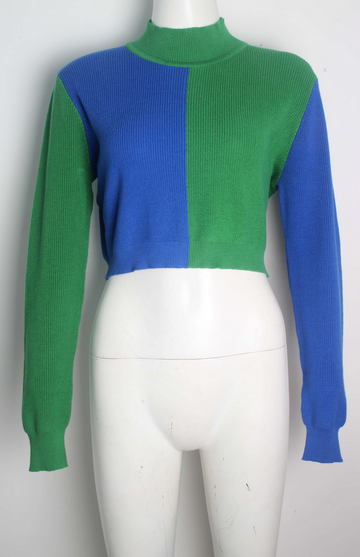 PRE-ORDER Blue/Green Cotton Sweater