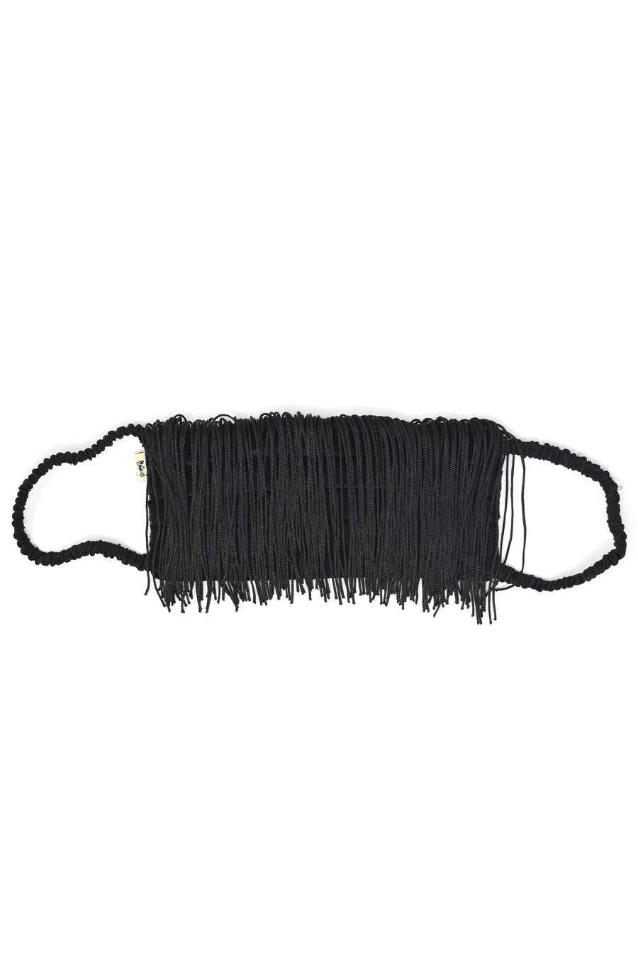 Black Velvet Fringe Mask