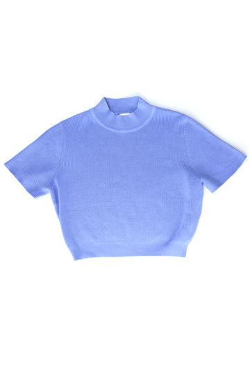 Short Sleeve Cloud Cotton Sweater