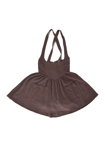 Brown Cinders Linen Pinafore