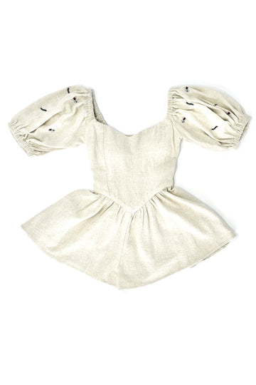 Cenitpedes and Flies Linen Romper