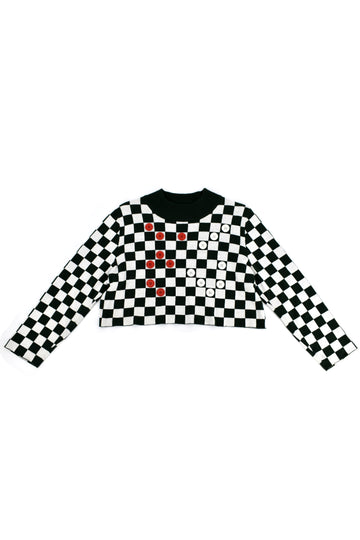 8 left- Eternal Checkers Game Sweater