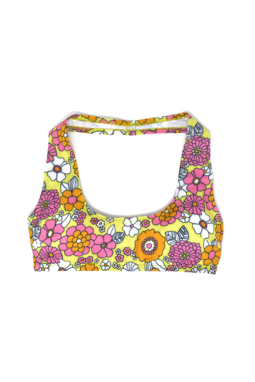 4 left- Floral Swim Halter Top