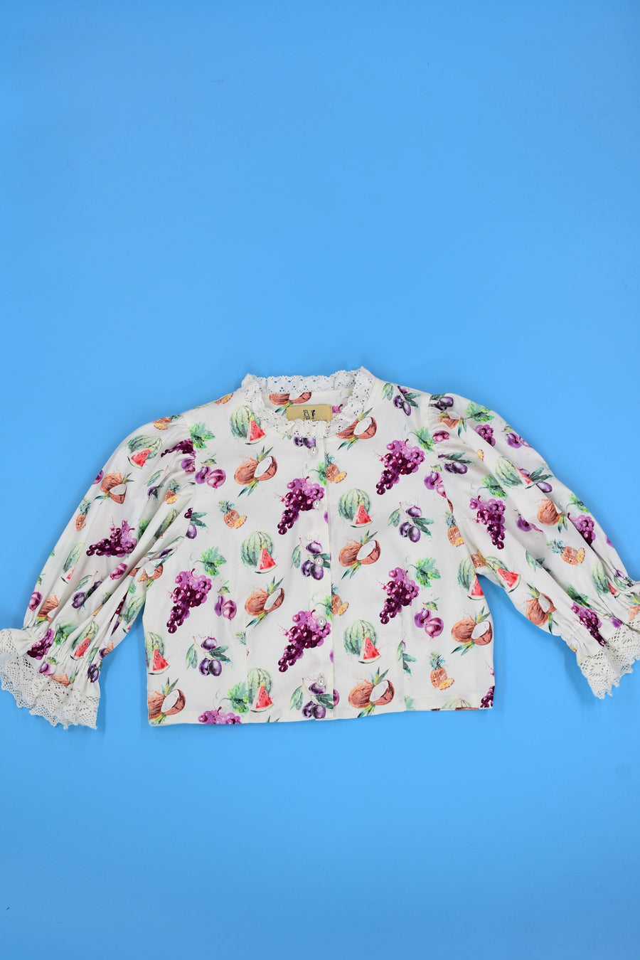 3 left - Fruit Puff Sleeve Top
