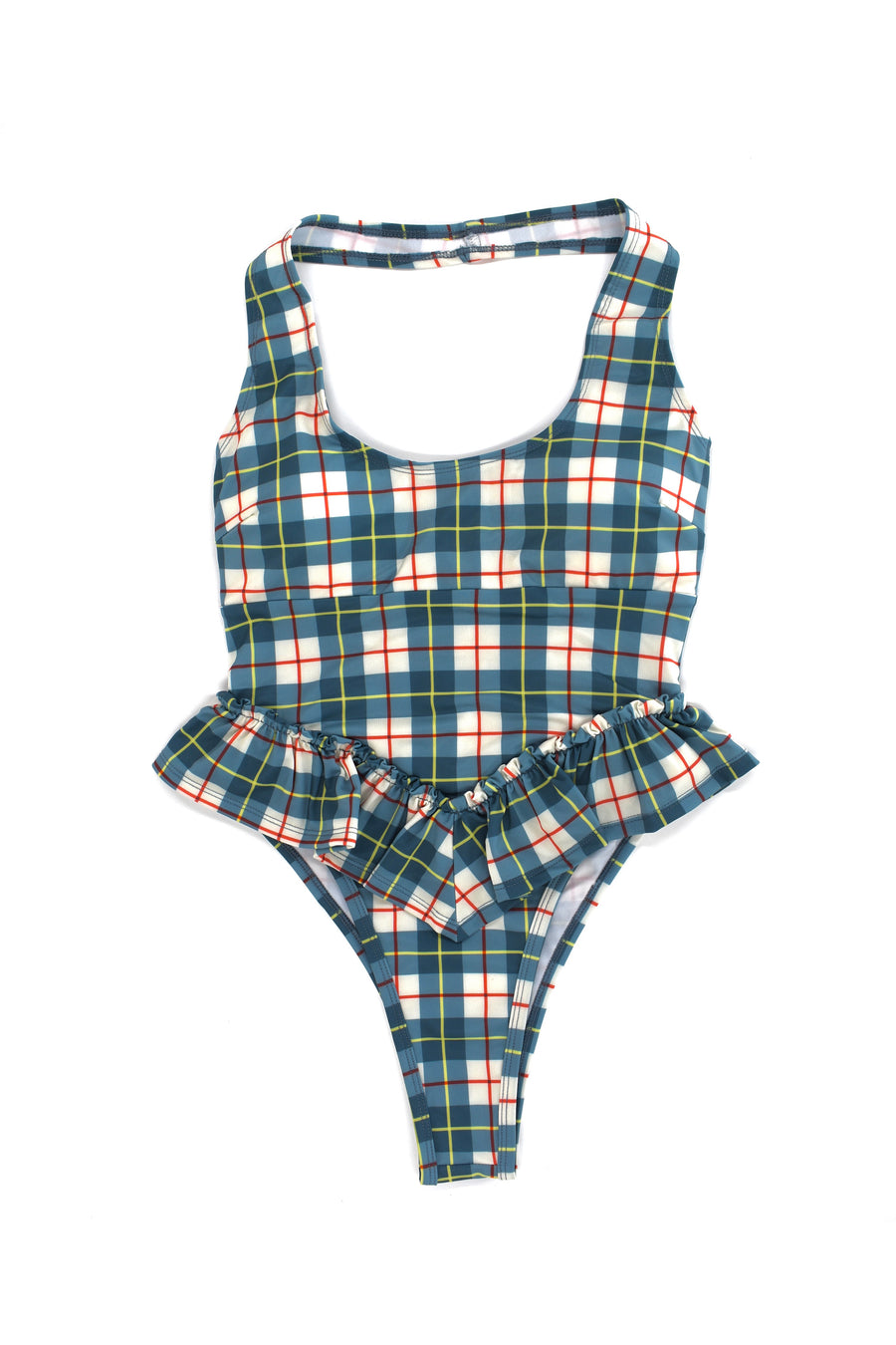 7 left - Plaid Halter Swimsuit