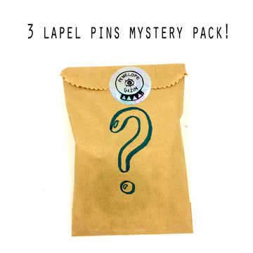 MYSTERY PACK- 3 Randomly chosen lapel pins