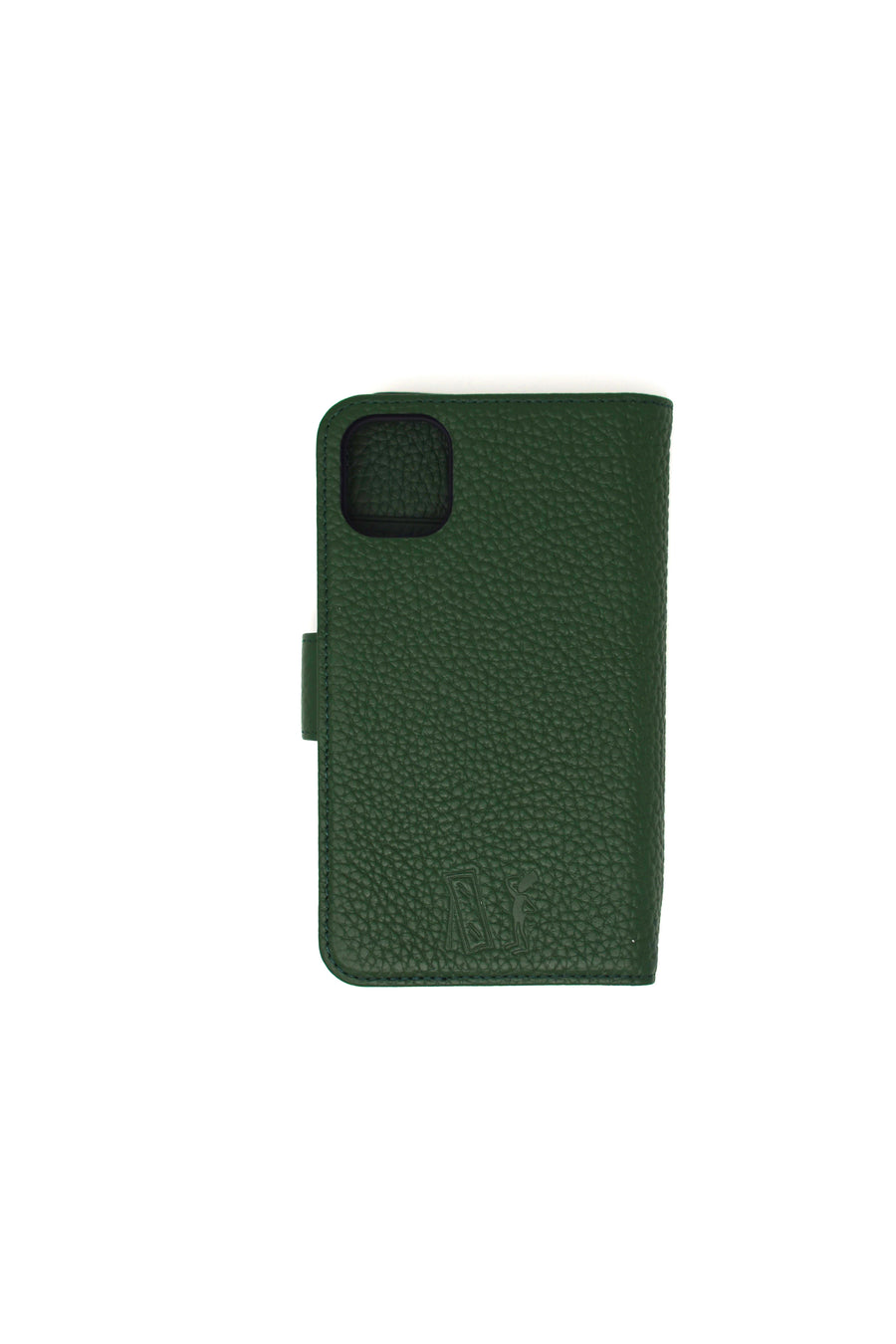 Note Taker Iphone 11 Leather Wallet Dark Green
