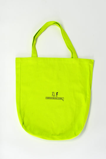 Lime Linen Large Tote