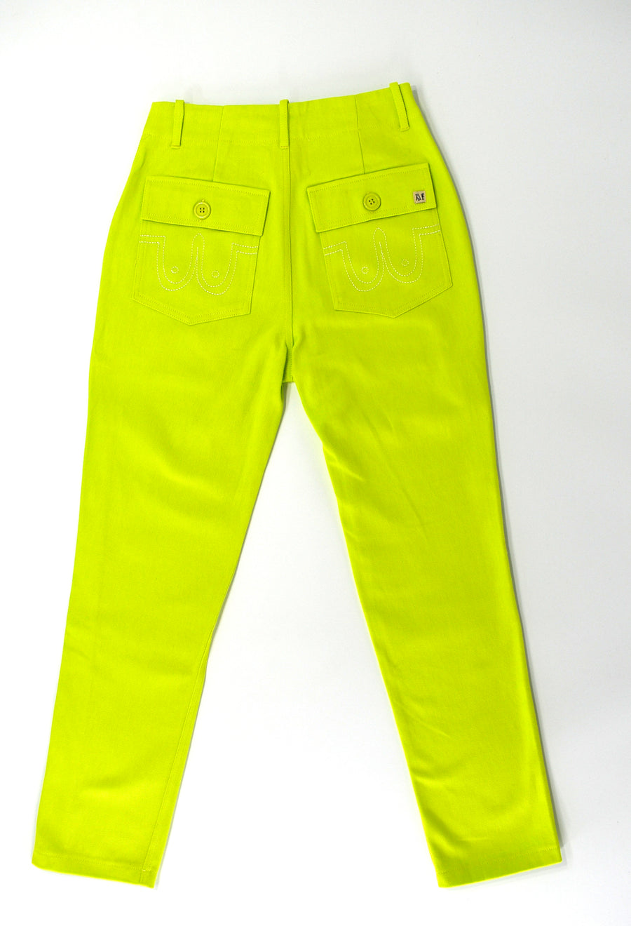 FINAL SALE xs Lime Cotton Trousers